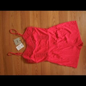 Red asos romper size 4