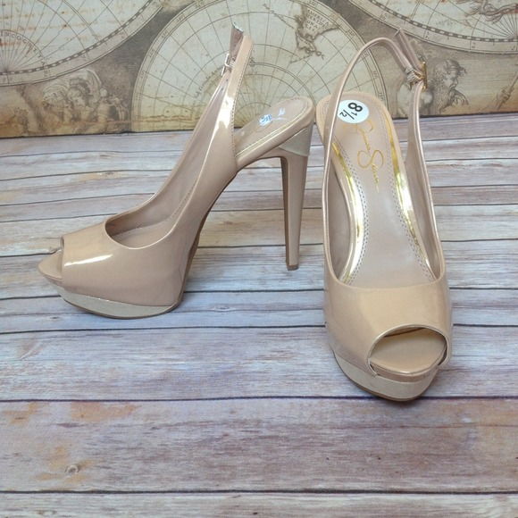 Jessica Simpson Shoes - Gorgeous Nude Champagne Slingback Pumps