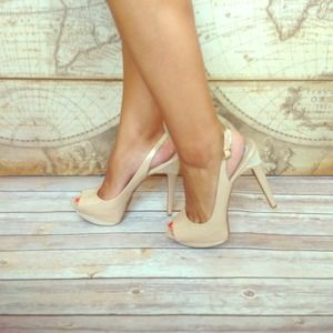 Jessica Simpson Shoes - Gorgeous Nude Champagne Slingback Pumps 1