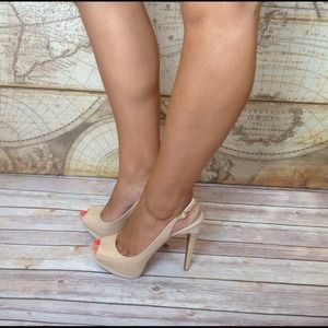 Jessica Simpson Shoes - Gorgeous Nude Champagne Slingback Pumps 2
