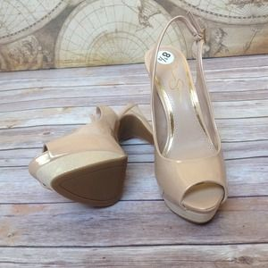 Jessica Simpson Shoes - Gorgeous Nude Champagne Slingback Pumps 4