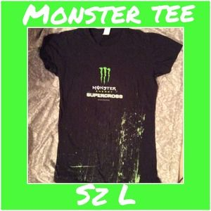 Monster Energy Drink Motorcross tee sz L