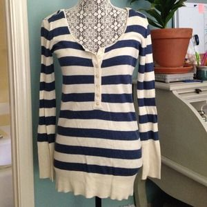 Tops - Navy and cream shirt-bundled