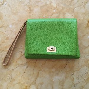 Henri Bendel Clutch Lime Green Leather