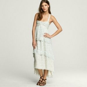 HP! 6/4 J. Crew Silk Chiffon Trellis Dress