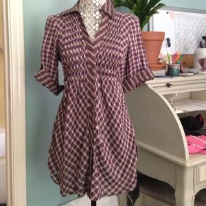 Tops - Plaid tunic