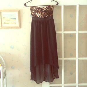 Dresses & Skirts - Nwt hi low leopard dress