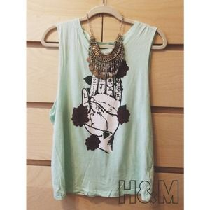 H&M graphic muscle tee