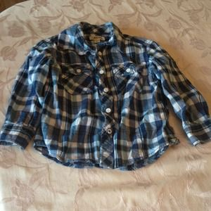 Tops - Boys xs (4-5) plaid shirt