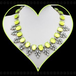 Neon Crystal Statement Necklace