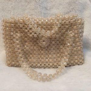 0️⃣ Mademoiselle Clear Beaded Handbag