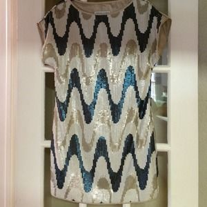 HOLIDAY SALE! TrinaTurk zig zag sequin shift dress