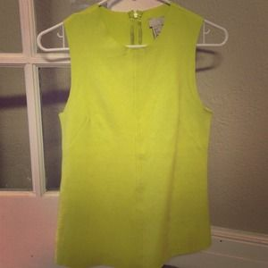 Bundled..Suede chartreuse top