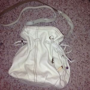 Lucky Brand off-white leather crossbody bag.