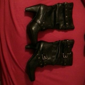 Black White Mountain mid calf boots Size 7