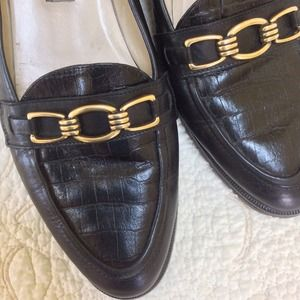 Beautiful Black Bally Loafers