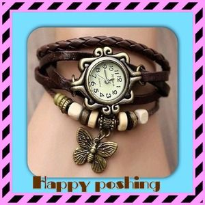 Butterfly Bracelet Wrist Watch for Girl Women OS from ...