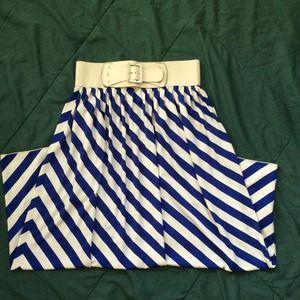 Dresses & Skirts - Royal Blue Chevron Maxi Skirt