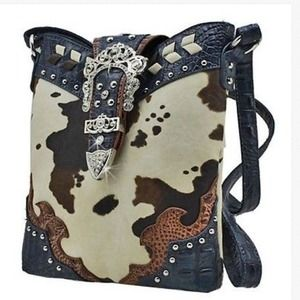 Handbags - Cow print messenger
