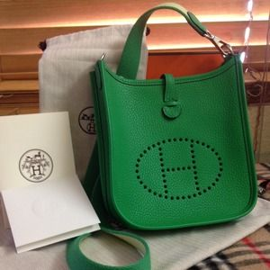 handbag with h on it - Hermes Evelyne Handbags on Poshmark