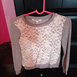 F21 lace front sweater