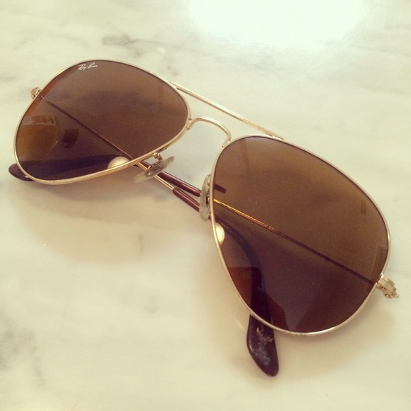 75ce3891bb Ray-Ban Accessories - Rayban sunglasses gold frame with brown lens
