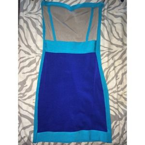 Bebe Bodycon Strapless Dress
