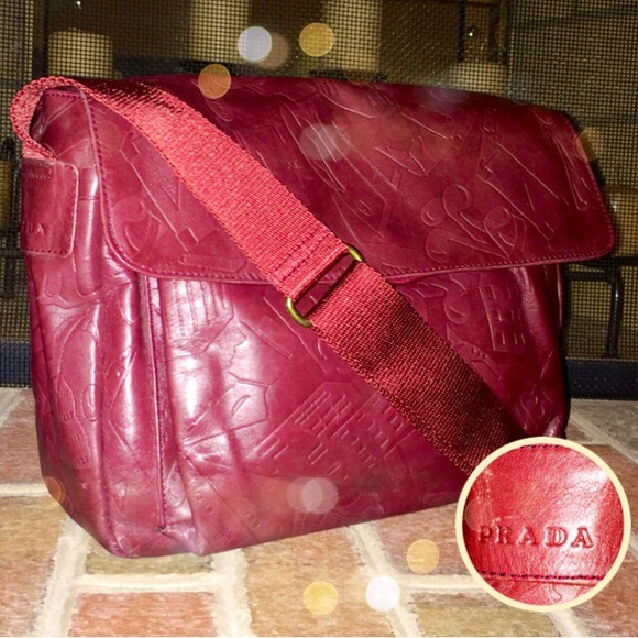 62% off Prada Handbags - + SOLD + Vintage PRADA Red Leather ...