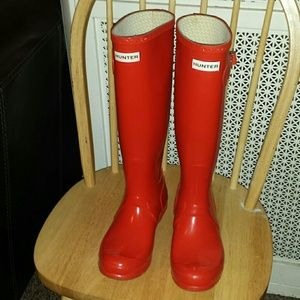 PRICE FIRM!!!! ORANGE  HUNTER rain boots