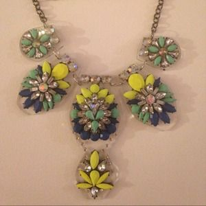 Neon & Lucite Statement Necklace