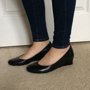 Nurture Dillard's  Shoes - Nurture black low wedge shoes