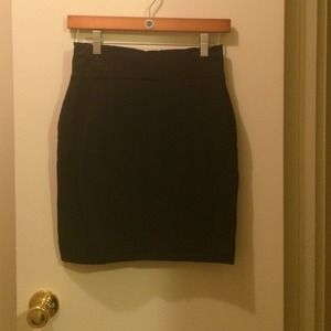 Cotton bodycon skirt