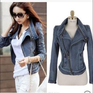 Jackets & Blazers - Denim fitted jacket