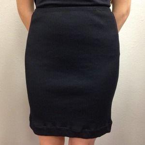 DOLCE & GABBANA Black Stretch Skirt