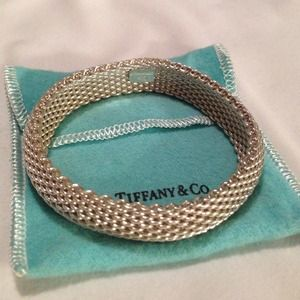 Tiffany & Co. sterling silver narrow mesh bangle