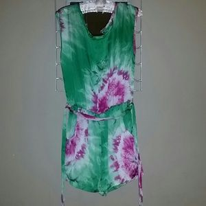 Pants - Tie-dye Romper/Jumper size medium