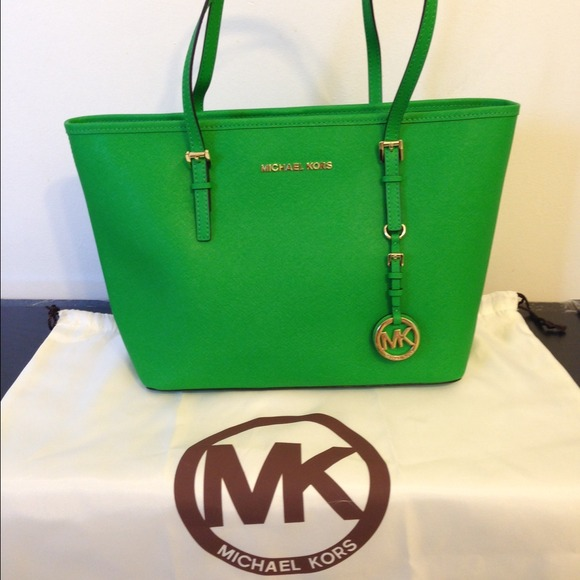 43% off Michael Kors Handbags - [sold] Michael Kors green tote ...