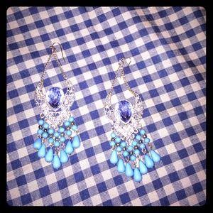 bebe Jewelry - Long dangly earrings with a vintage feel