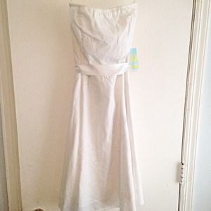 Forever 21 White Eyelet Dress, Size S