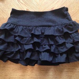Forever 21 Dresses & Skirts - Forever 21 Charcoal Ruffle Miniskirt, Size XS