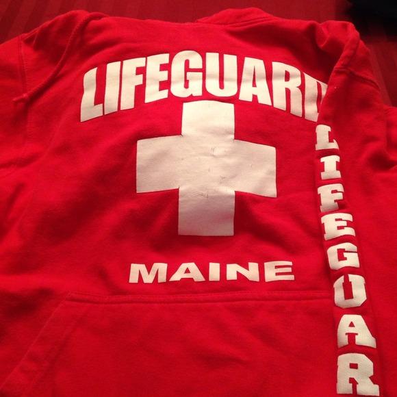 Tops Red Lifeguard Sweatshirt Poshmark