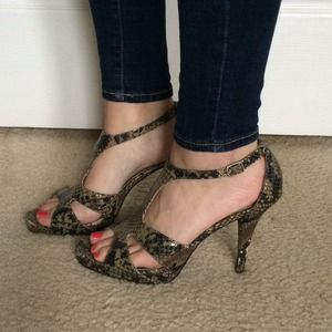 Nine West Shoes - Nine West faux snake skin heels