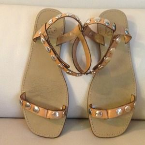 D&G Shoes - D&G Dolce &Gabbana nude sandals with studs💄🎸💄🎸