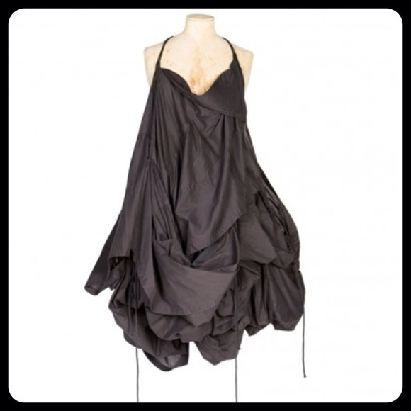 SALE All Saints Parachute Dress in Washed Black