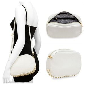 Host PickWhite Studded Bottom Bag