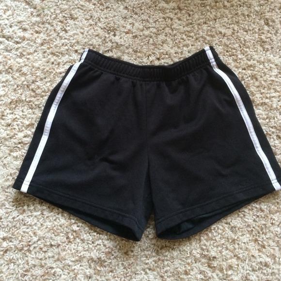 Black Shorts With White Stripes - Hardon Clothes