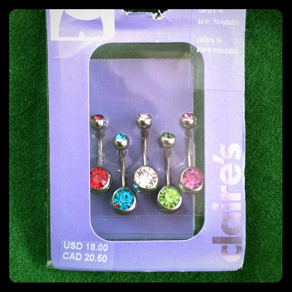 Claires Jewelry Belly Button Rings Poshmark