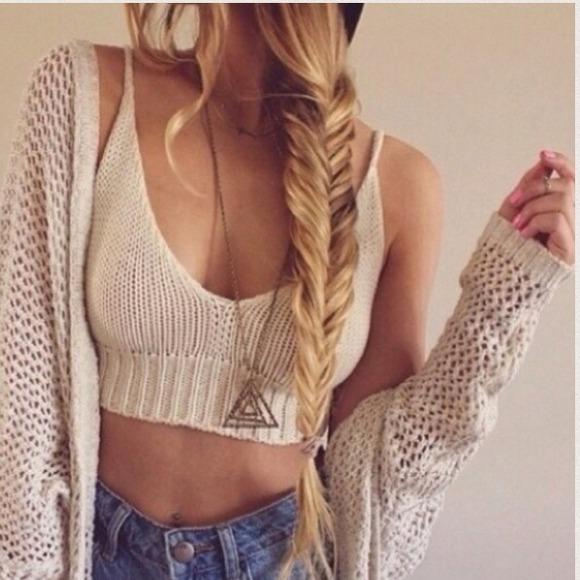 ?HOST PICK?Brandy Melville Crochet Bralette Top