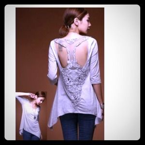 Open Back Shirt (Available in Gray & Black)