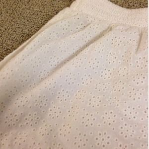Urban Outfitters white eyelet lace mini skirt
